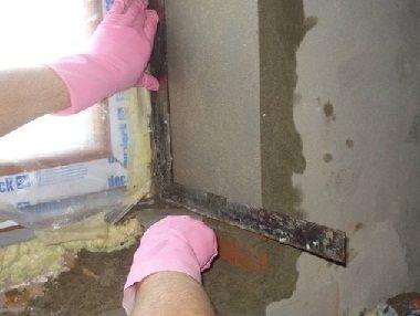 Выравнивание цементного откоса