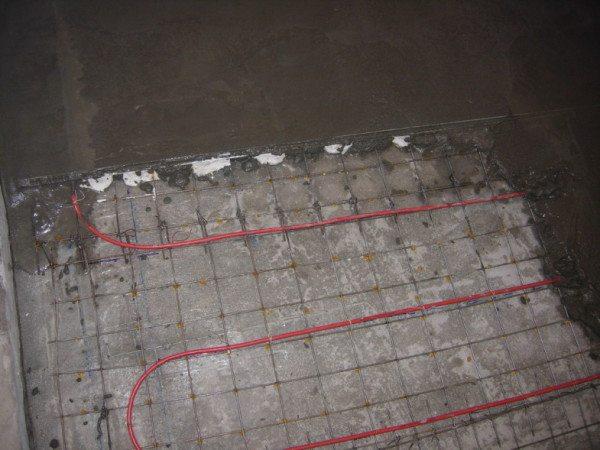 Заливка стяжки с системой «теплый пол»