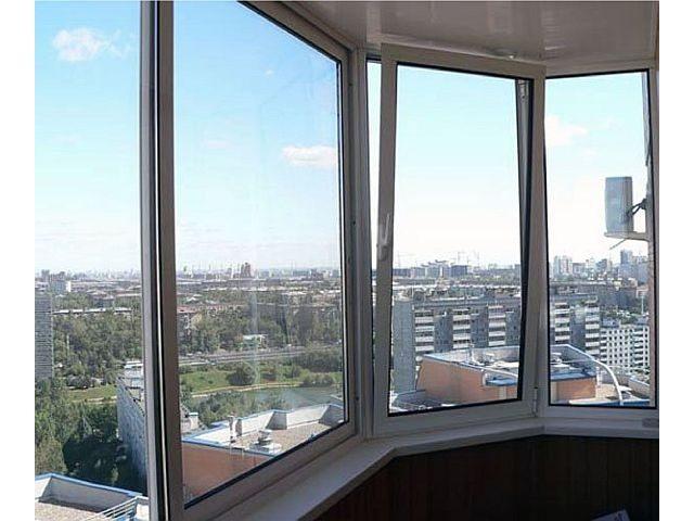 Лоджия застеклена алюминиевыми окнами